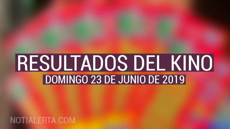 resultados del Kino Domingo 23 de Junio de 2019