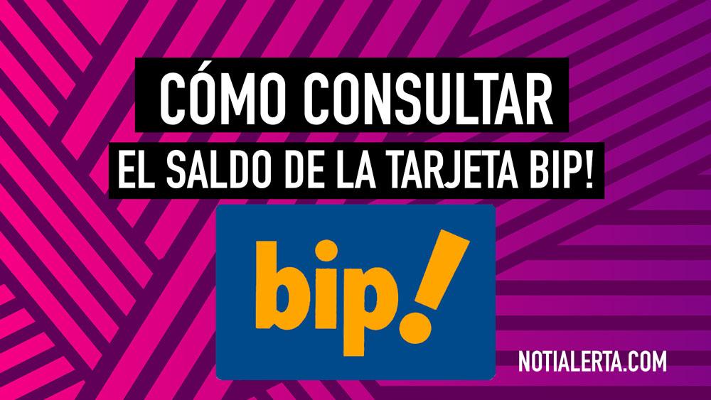 Cómo consultar el saldo de la tarjeta bip!