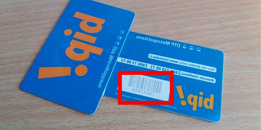 Número de la tarjeta bip
